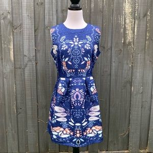 Women Sleeveless Printed Embossed Dress XL AU8-10